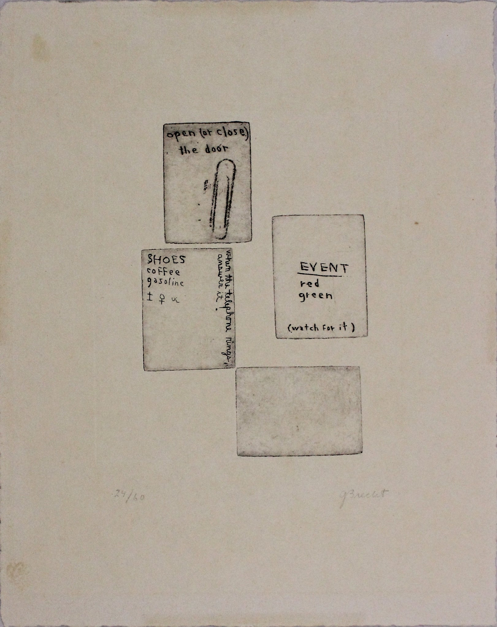 George Brecht, Etching, 1962