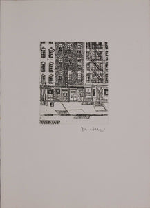 Orfeo Tamburi, Skyscrapers from the Winslov Hotel, 1971, gravure signée