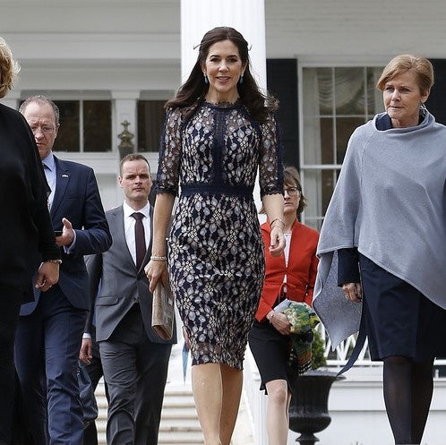 Crown Princess Mary of Denmark Wears Clarissa Dress on visit to Texas