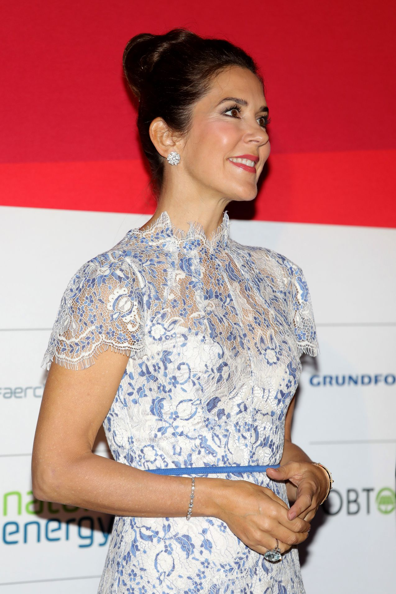 Crown Princess Mary wears Elodie Dress at Paris Town Hall