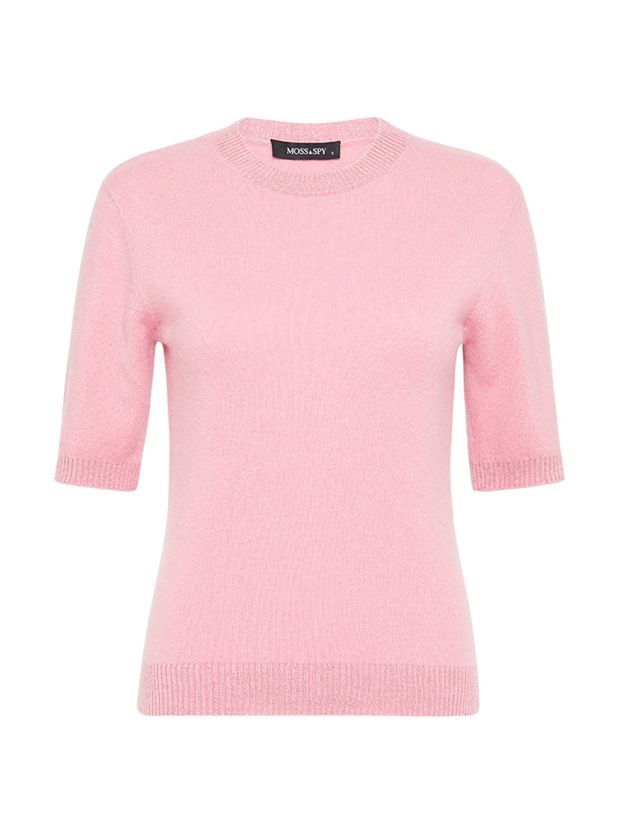 Cashmere Tee in Dusty Pink