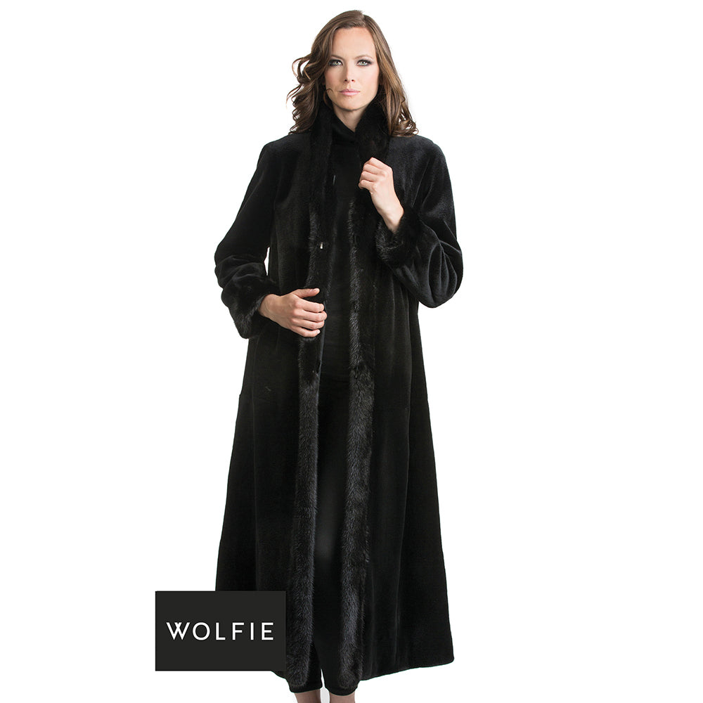 ZOLA Reversible sheared mink fur coat