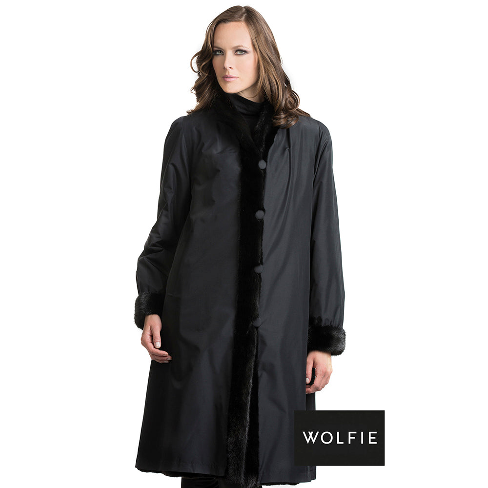 BAILEY Reversible mink section coat