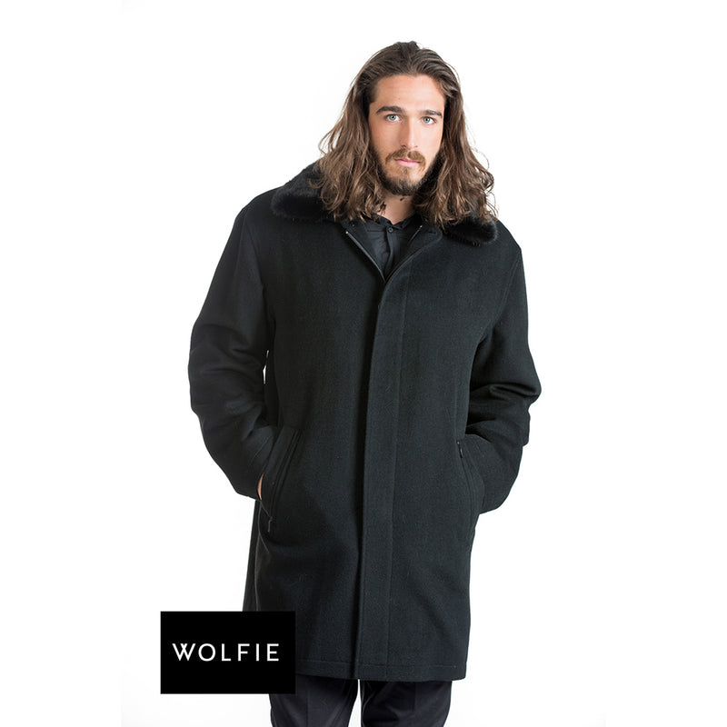 SEAN Cashmere coat with mink liner