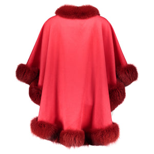 HALEY Cashmere cape with pockets