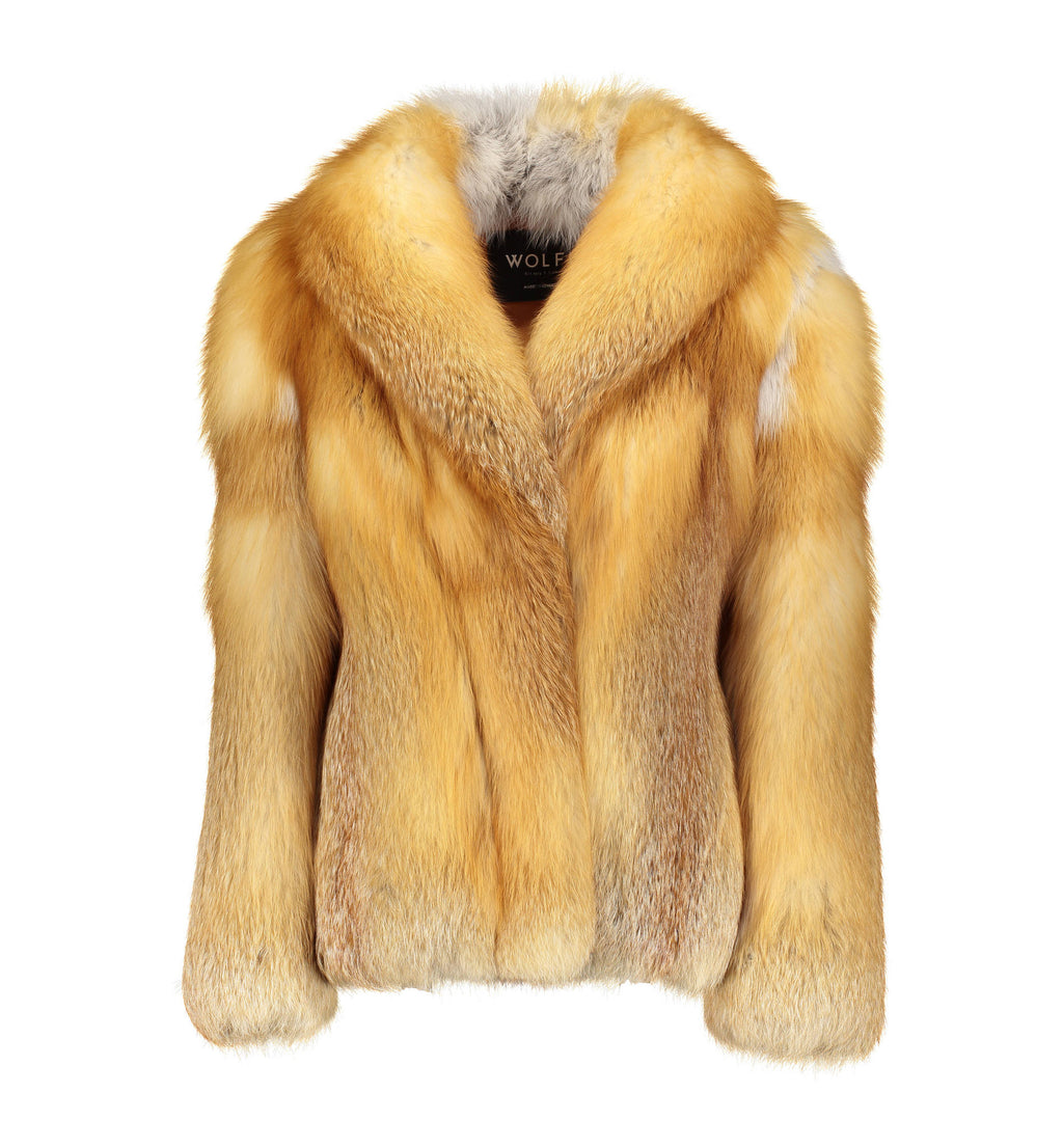 TRACEY Red Fox Fur Jacket