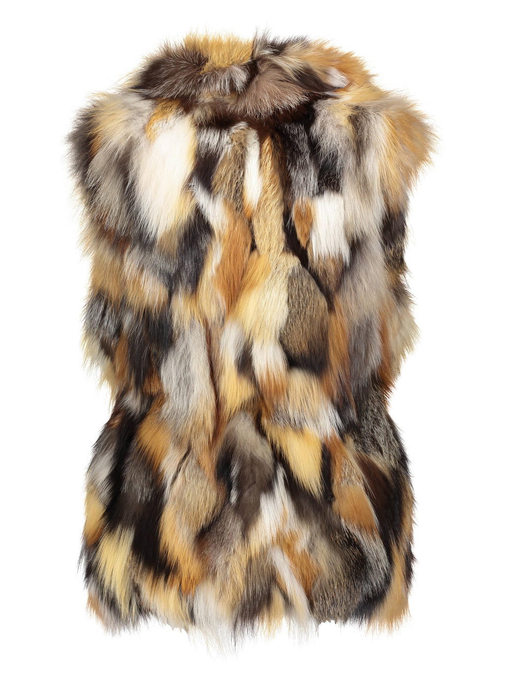 DORI Sculpted fox fur vest