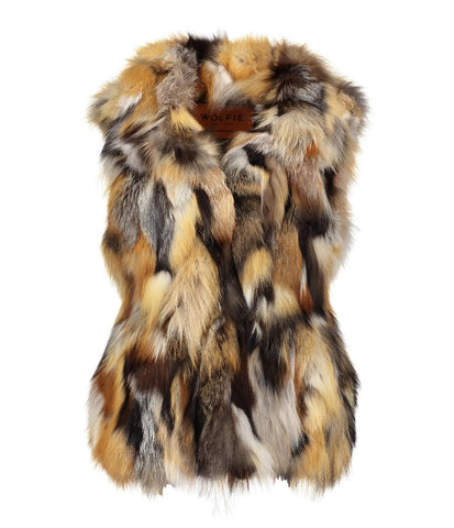 Paris Sheared Beaver and Fox Fur Vest