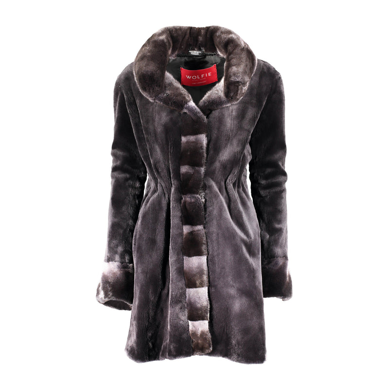 PENELOPE Sheared mink fur jacket