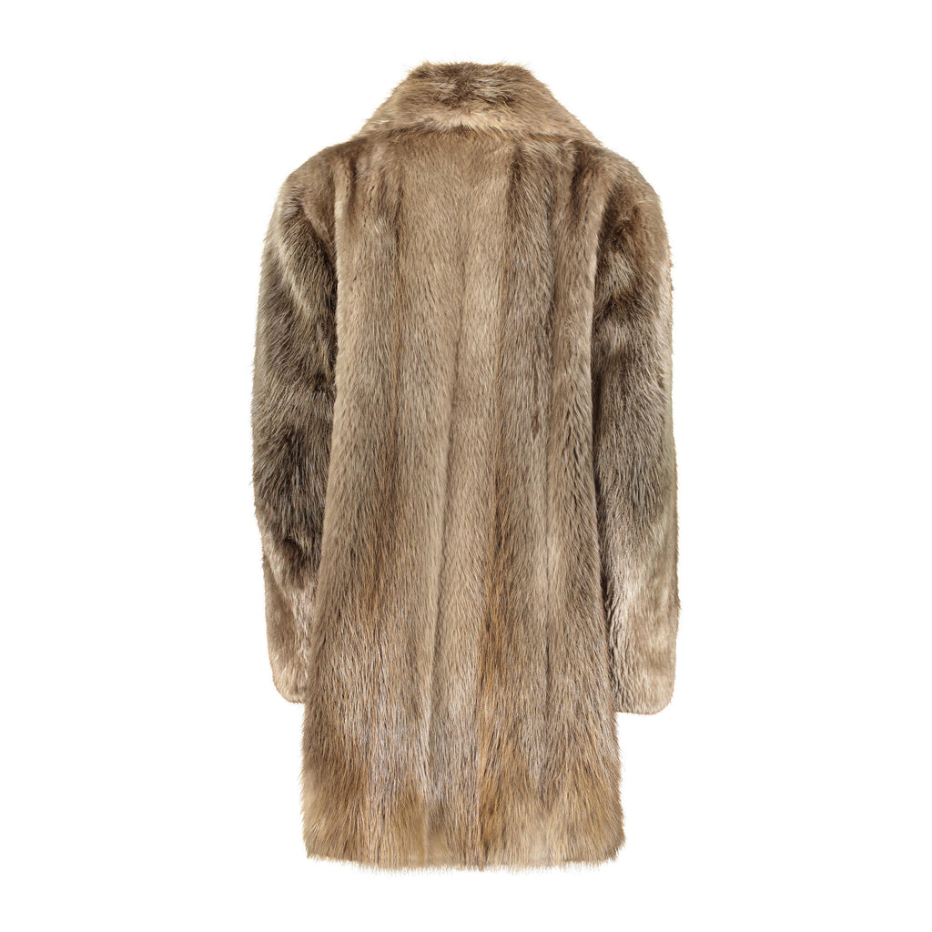 CARL Beaver fur mens trench coat