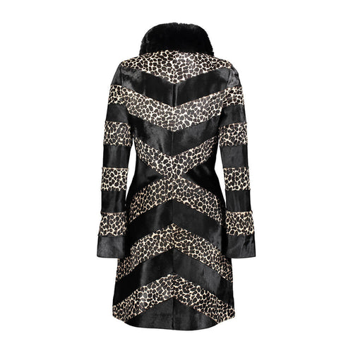 Carla Calf Leather Zippered Coat