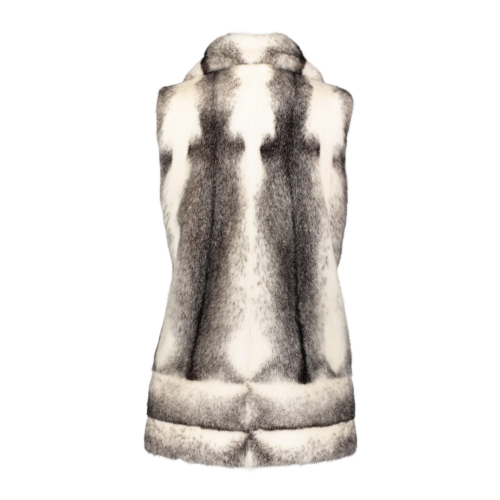 Monica Cross Black Mink vest