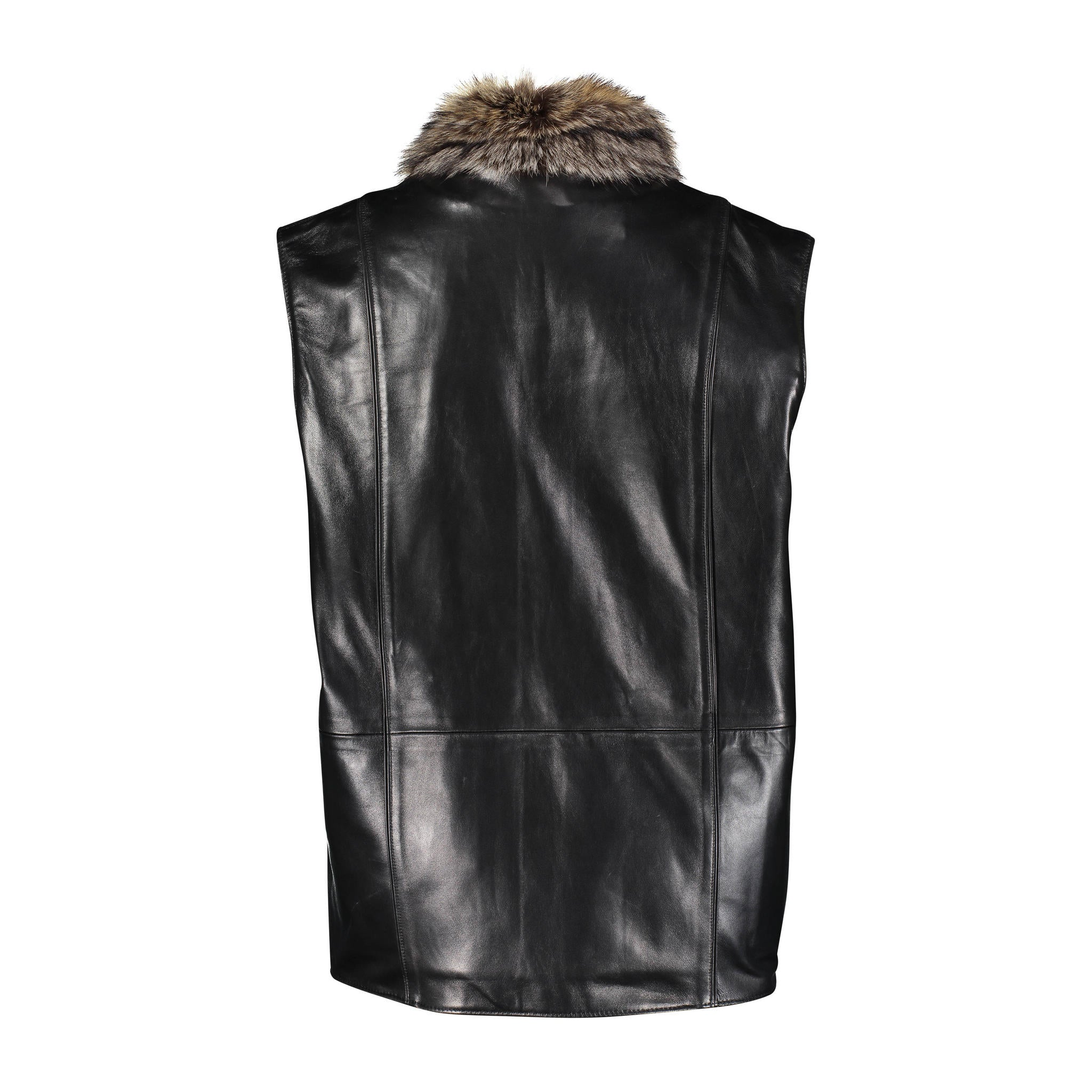 Hector Raccon to Leather Vest