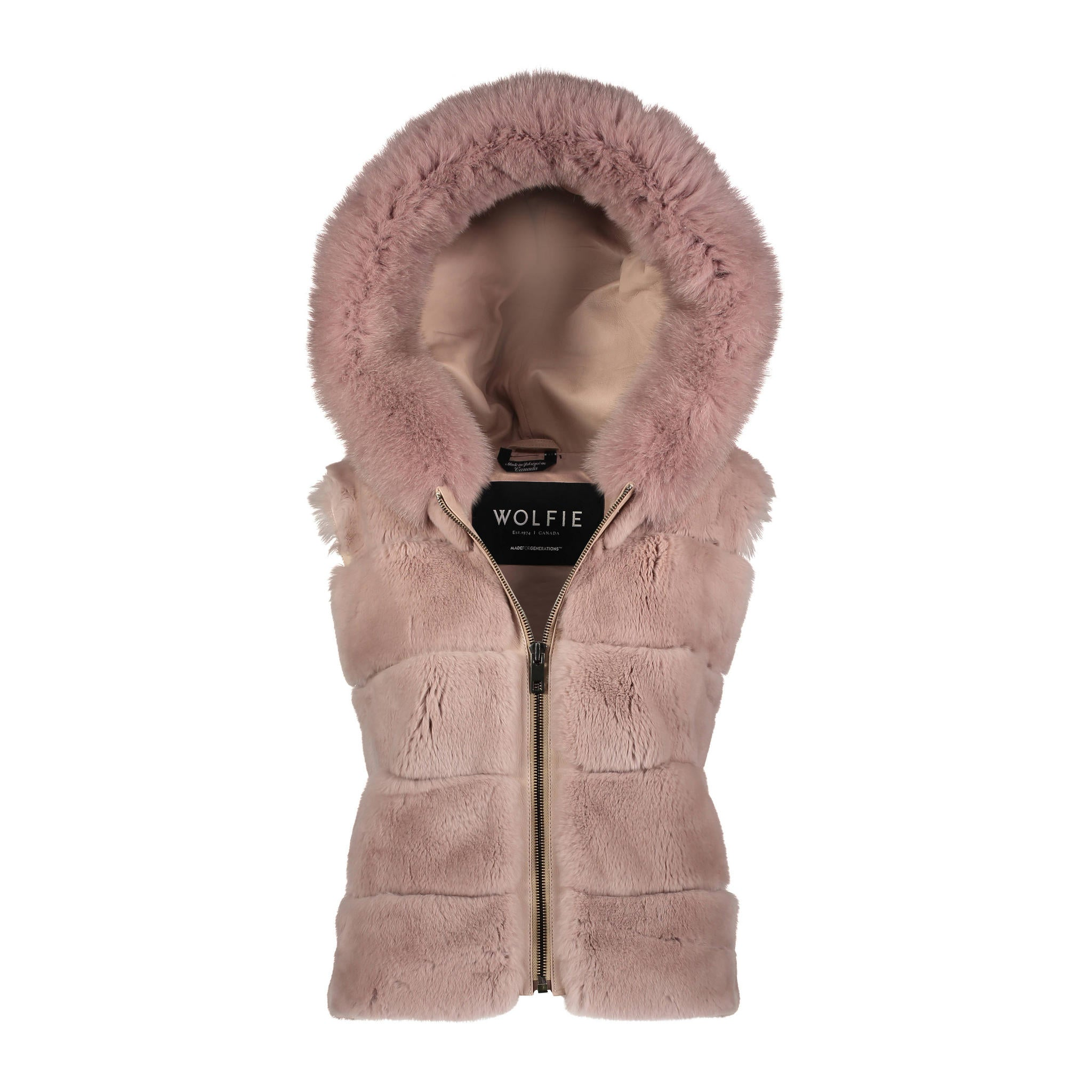 Audrey Rex Rabbit Hooded Vest
