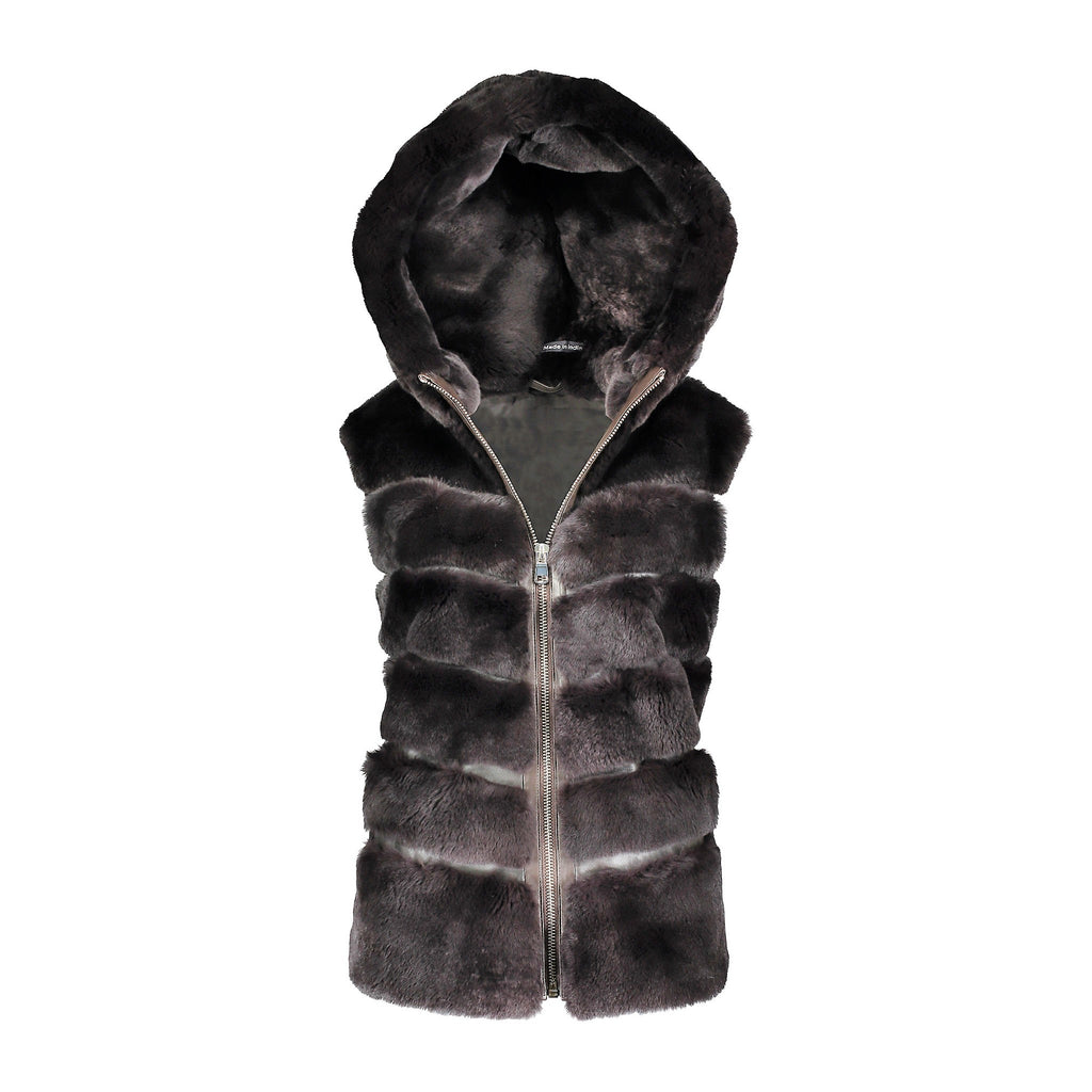 MICHELLE Rex rabbit hooded vest