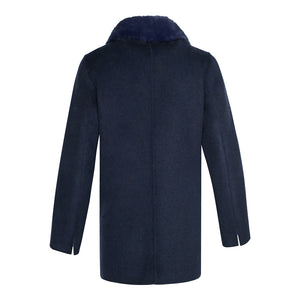 MEGAN Cashmere cardigan with Rex rabbit fur front