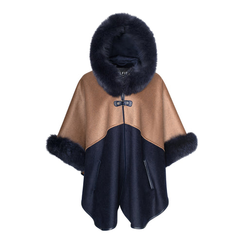 MONIQUE Cashmere Hooded Cape