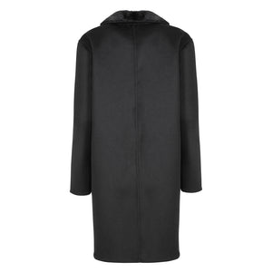 KATE Cashmere Coat with Real Mink Fur Trim