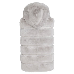 MIAR Reversible rex rabbit hooded vest