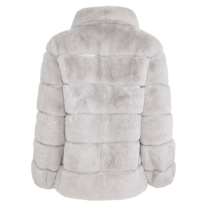 LENA Rex rabbit jacket with round collar
