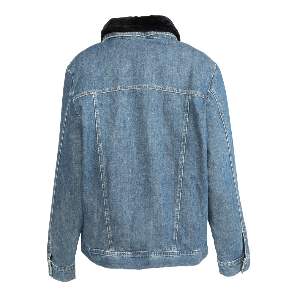 DENISE Denim jacket with fur lining