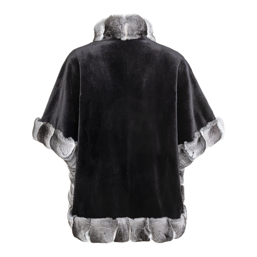 MONACO Mid length Luxury mink cape