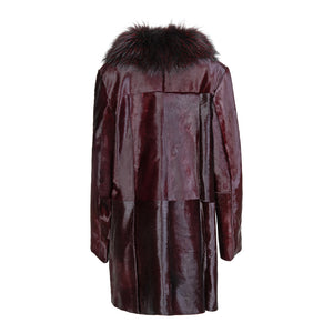 ALLY Calf leather coat