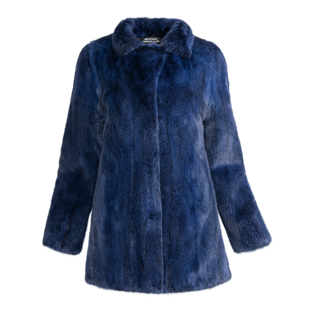 QUINN Long hair mink jacket