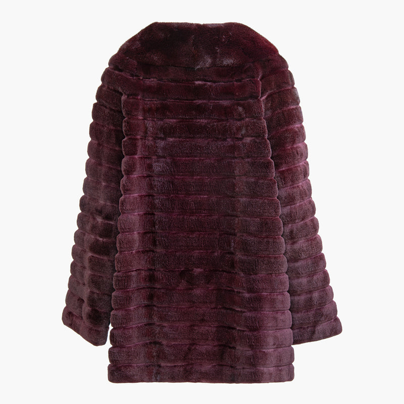 ALICE Horizontal motifs mink coat