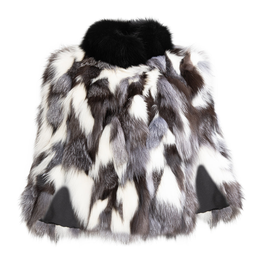 ELLIE Fox fur cape