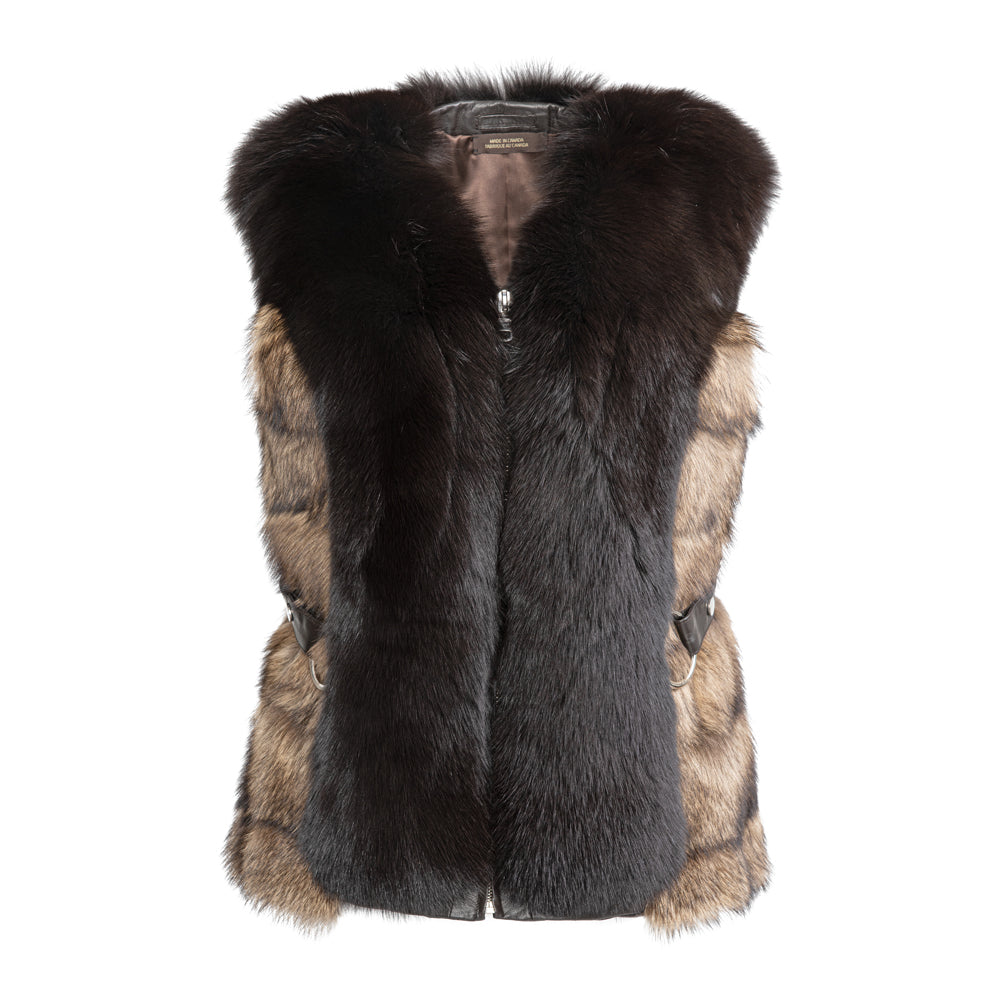 HOLLY Fischer vest with front fox