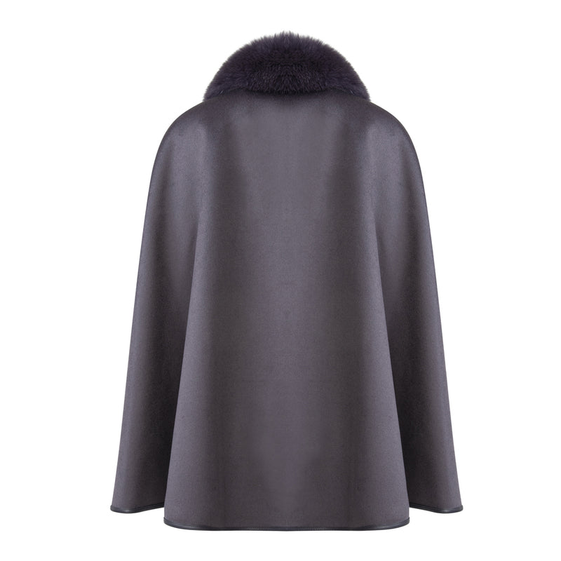 PATY Cashmere cape with slit sleeves