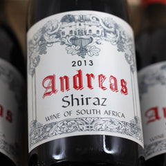 Andreas Shiraz 2013, Wellington, South Africa (750ml)