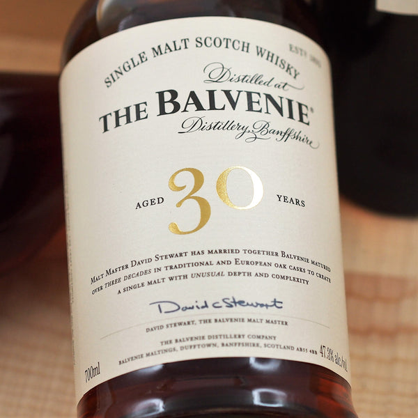 Balvenie 30 Year Old Single Malt Scotch Whisky, Speyside, Scotland (700ml)