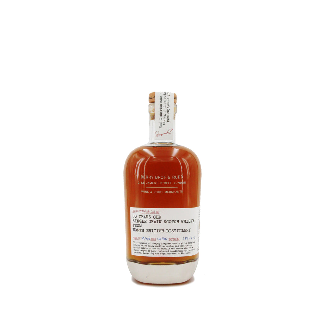 Berrys' Exceptional Casks 50 Years Old Single Grain Scotch Whisky from North British Distillery, Scotch (700ml)