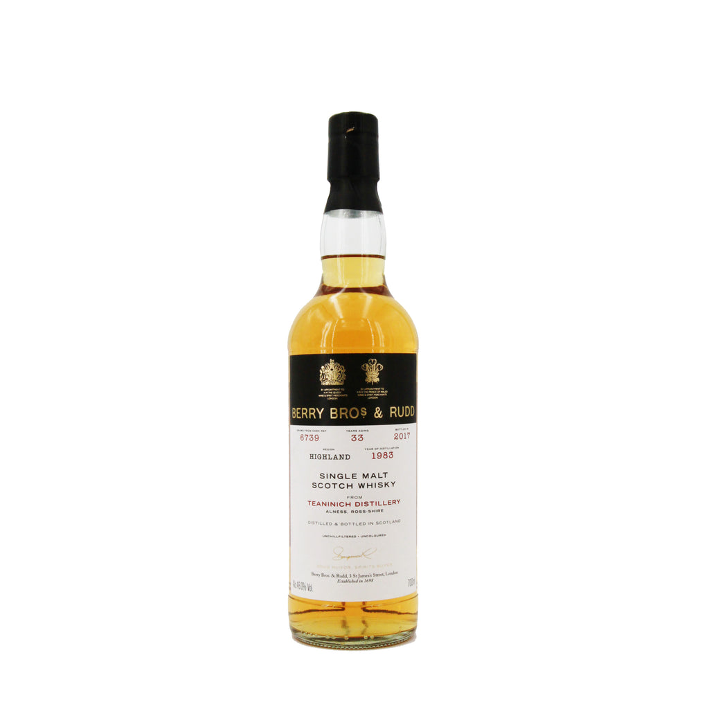Berrys' Teaninich, Cask No. 6739, Single Malt Scotch Whisky, 46% (700ml)