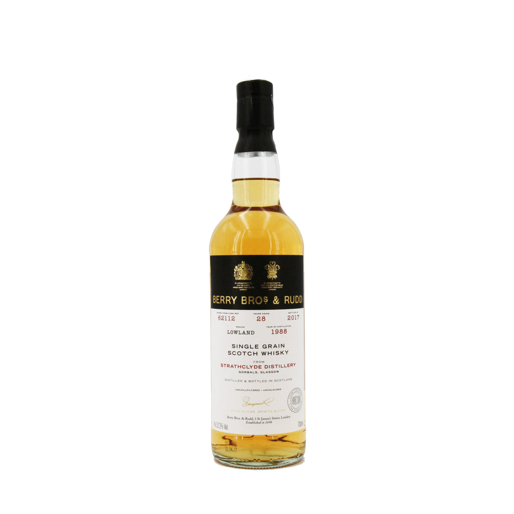 Berrys' Own Selection Strathclyde Single Grain Scotch Whisky 1988 (#62112), Scotland (700ml) - 52.2%