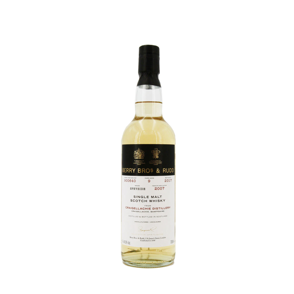 Berrys' Craigellachie Single Malt Scotch Whisky 2007, Scotland (700ml) - 46.0%
