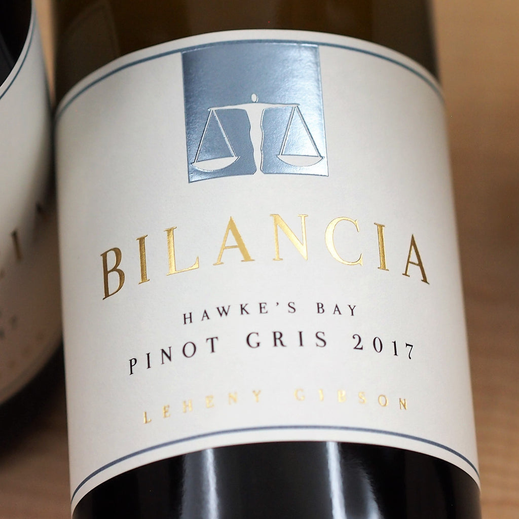 Bilancia Pinot Gris 2017, Hawke's Bay, New Zealand (750ml)