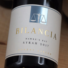 Bilancia Syrah 2017, Hawke's Bay, New Zealand (750ml)