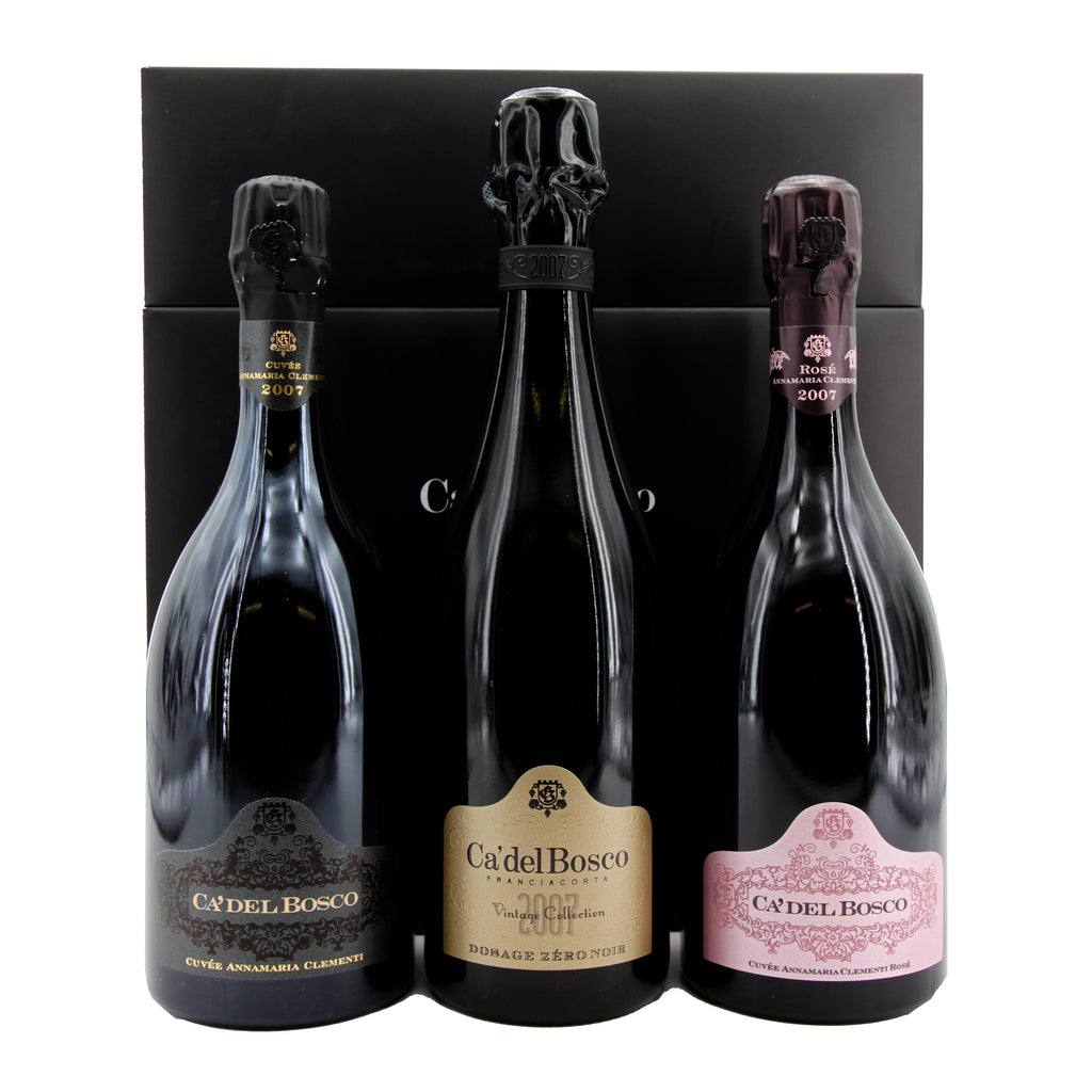 Ca' del Bosco Cofanetto Trilogia 2007, Lombardy, Italy (Limited Edition Gift Set) (3 Bottles)
