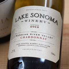 Lake Sonoma Russian River Valley Chardonnay 2014, Sonoma, USA (750ml)