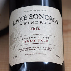 Lake Sonoma Pinot Noir 2014, Sonoma, USA (750ml)
