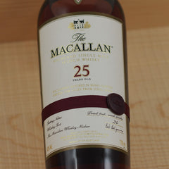 Macallan 25 Years Sherry Oak Malt, Speyside, Scotland (700ml)