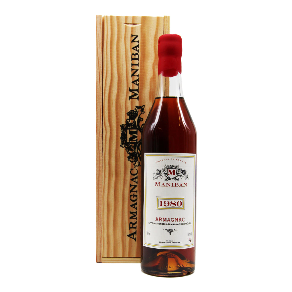 Armagnac Maniban 1980, Armagnac, France (700ml) with Wooden Giftbox