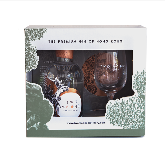 Two Moons Signature Dry Gin Tasting Set, Hong Kong (200ml)
