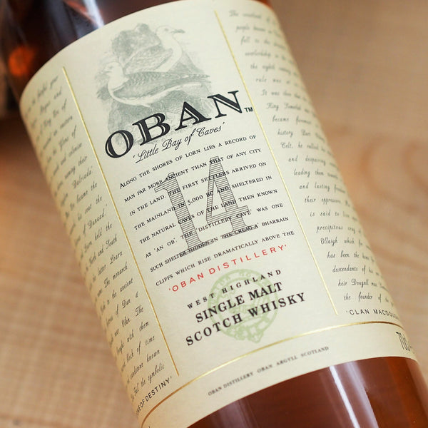 Oban 14 Year Old Single Malt Scotch Whisky, Highlands, Scotland (700ml)