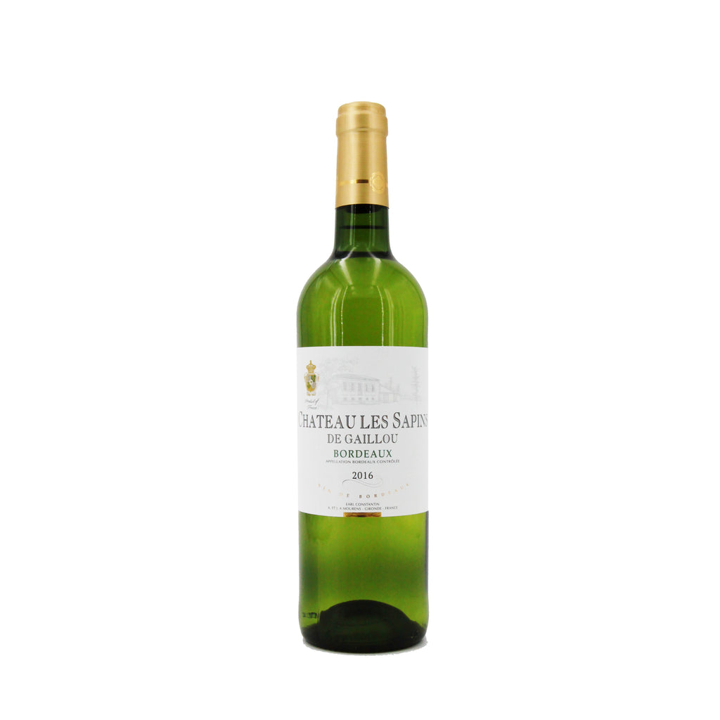 Chateau Les Sapins de Gaillou Blanc 2016, Bordeaux, France (750ml)
