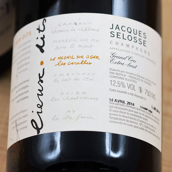 "Jacques Selosse ""Les Carelles"" Blanc de Blancs NV, Champagne, France (750ml)"