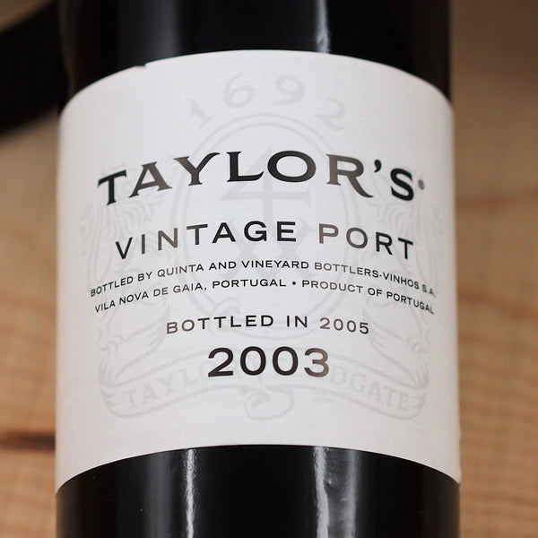 Taylor's Fladgate Vintage Port 2003, Douro Valley, Portugal (750ml)